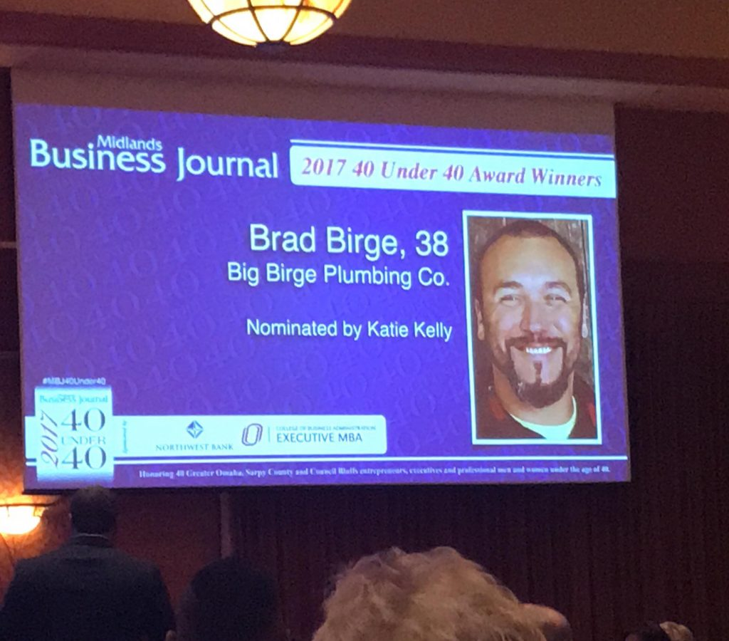 Brad mentioned at the award ceremony