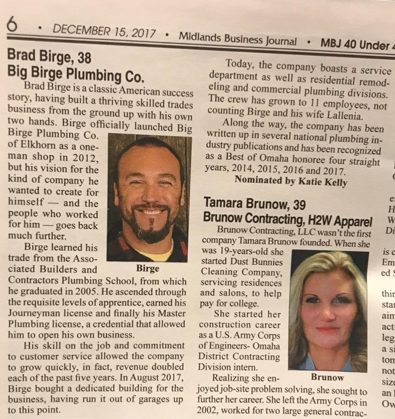 Brad in Midlands Business Journal