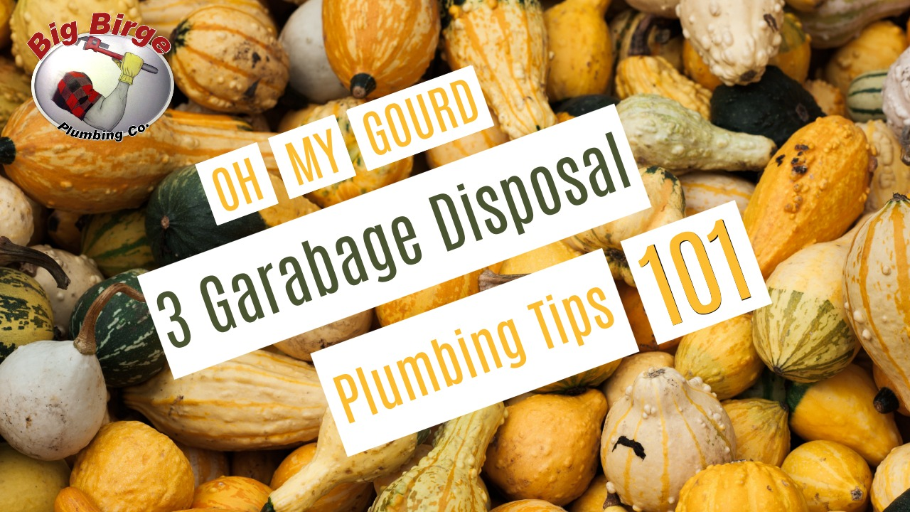 Three garbage disposal tips