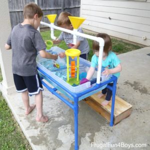 PVC pipe sand table