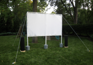 PVC pipe movie theater